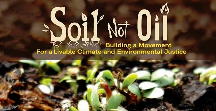Soil Not Oil banner